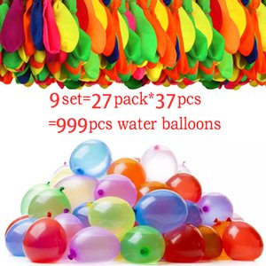 999 Pcs Water Bomb Balloons Water Balloon Summer Play with Water Bombs Balloon Swimming Pool Game Kids Summer Gift Dropshipping 201014