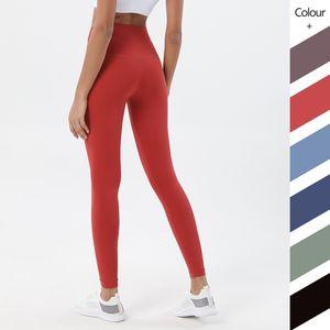 Solido Colore Yoga pantaloni a vita alta Stylist Yoga Leggings palestra Abbigliamento Donna Pantaloni allenamento Danza Leggings Lady Elastic Body Stretto