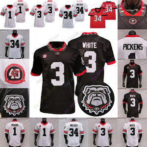 2020 Georgia Bulldogs Football Jersey 40th College Herschel Walker Stetson Bennett IV Zamir White Cook George Pickens Smith Jackson Smart