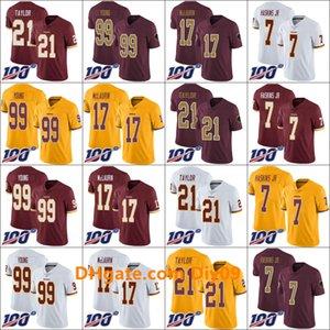 WashingtonRedskinsMänner 99 Chase Junge 17 Terry McLaurin 21 Sean Taylor 7 Dwayne Haskins Jr Frauen JugendNFL 100. Limited Jersey