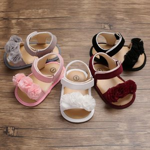 Summer baby girl toddler first walker artificial PU soft soles non-slip lace flowers toddler baby toddler shoes