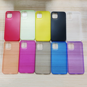 0.33MM Clear Ultrathin Matte PC Case Cover for iPhone 12 Pro Max iPhone 12 Candy Color Phone Cases