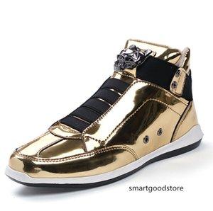2019 Hot Sale coreano moda designer de moda s ouro prata preto brilhante brilhante Sr. elegante tapete preferido qualidade sapatos vermelhos