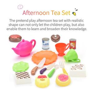 Play House Toy Fruit Tray Legumes Fruta do bebê brinquedos de plástico Crianças Pretend Play House Situado Crianças Crianças Toy Educacional Presentes Toy S