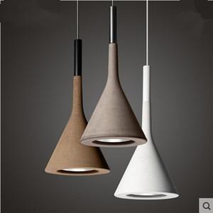 Aplomo lámpara colgante de cemento para la cocina del restaurante minibar réplica diseñador de luz colgando accesorios de la lámpara de techo de cemento Foscarini