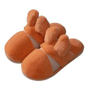 OEIN Home Plush Slippers Soft Warm Faux Fur Women Men Slippers Flat Flatform Slides Female Winter Flip Flops Fur Slides