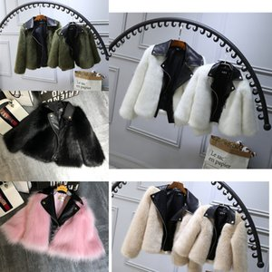 Kids fur 0-7T Coat Jacket Imitation fox Artificial Fur Grass High Quality Plush leather Fake Winter baby girl Clothes B287