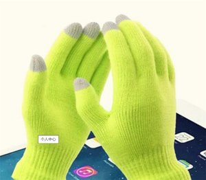Glove Fashion touch screen Gloves colorful&Soft Cotton Winter Gloves Warmer Smartphones For Driving Glove Gift For Men WomenSQ480