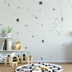Bacal custom cartoon modern black speckle 3D wallpaper mural photo for children room simplicity background home decor