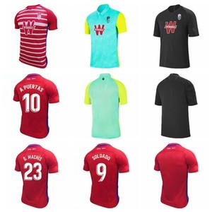 20 21 Granada Soccer 24 Carlos Fernandez Jersey 10 Antonio Puertas 11 Darwin Machis 9 Roberto Soldado Alvaro Vadillo Camisa de Futebol Kits