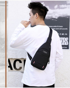 Backpack For Business Men's Chest Bag Nylon Waterproof Backpack Outdoor Leisure Bag Men's Leisure Messenger Bag Sports Backpack