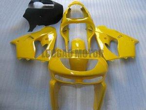 Cadeaux carrosserie moto chaude vente kit carénage en plastique pour Kawasaki ZX9R 98 99 tous les kits de corps carénages jaunes ninja ZX9R 1998 1999