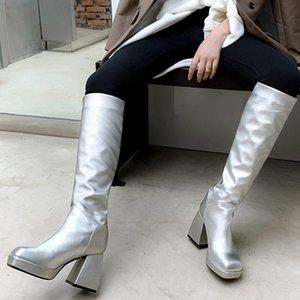 Stiefel Doratasia Solid Block Heel Designer Schuhe Marke Handmade Comfy Women Klassische Runde TOE MIT MIT MIT MIT MIT MIT MIT MIT MIT MIT KALF