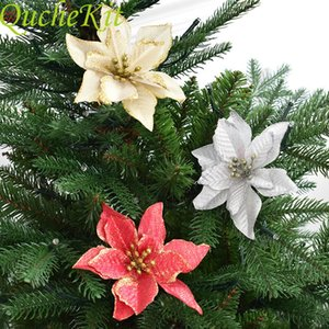 Artificial flowers sparkle 10 $124; Christmas trees decorate houses, decorate Christmas trees and new year, Navidad 2019