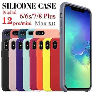 1 pièce! Cas de silicone pour iPhone 12 11 Pro Max 6 7 8 Plus x Max iPhone 12 iPhone Coque avec boîte de vente au détail