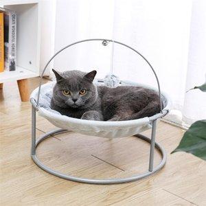 السرير السرير لينة القطيفة القط أرجوحة انفصال الحيوانات الأليفة السرير مع الكرة المتدلية للقطط الحيوانات الأليفة لوازم المنزل إسقاط الشحن