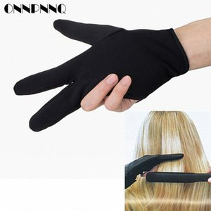 Cabeleireiro Três dedos de luvas anti-quente para Flat Iron resistente ao calor Alisamento Curling Luva Styling Household Luvas 623A #