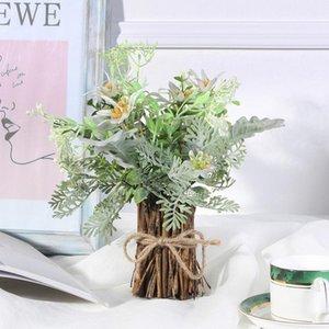 Artificial Flower Hybrid Potted Plant Simulation Plant Bonsai Wedding Flower Arrangement Home Desktop Decoration #1