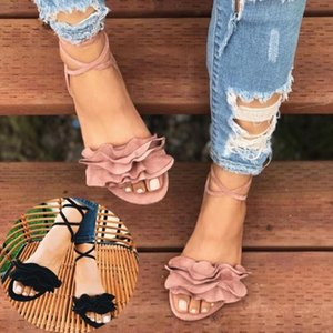 2020 Women Popular Sandals Ladies Summber Beach Canvas Plain Sandals Slipper Flip Flop Size 35-43