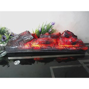 Electric fireplace simulation charcoal fake firewood Bonfire shoot props museum hall decorations craft Halloween Christmas party 201127