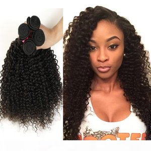 7A Brazilian Kinky Curly Virgin Hair 3 4Pcs Brazilian Afro Kinky Curly Virgin Hair Brazilian Deep Wave Curly Human Hair Extensions