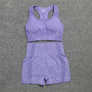 Women Vital Seamless Yoga Sports Suits Sport Bra+High Waist Fitness Shorts Gym Set Running Sportswear Workout Clothes