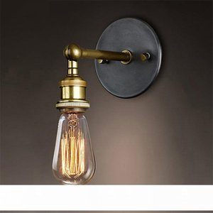Vintage Loft Sconce Wall Lamps Lights LED E27 Edison Bulb Plated Iron Retro Industrial Home Lighting Bedside Wall Lamps Fixtures