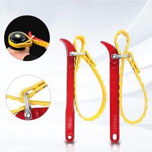 Schraubenschlüssel Werkzeug Einstellbare Gürtelschlüssel Ölfilterkassette Demontage Werkzeug Ölfiltergurt Puller Strapschlüssel