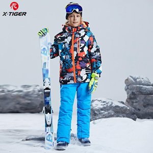 X-TIGER Ski Suit For Boys Winter Thick Warm Jacket Pants Set Waterproof Windproof Skiing and Snowboarding Suits Kids Ski Coat
