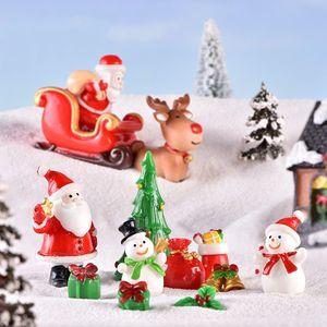 Decoração de Natal do boneco de neve homem micro snowscape paisagem velho enfeite meias pequeno sino presente resina T500297 ornamento
