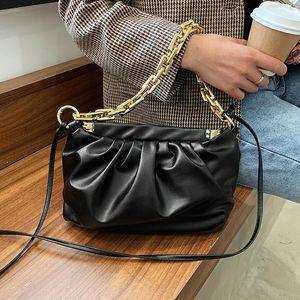 Color Fashion PU Crossbody Handbags For Bags Women Shoulder Chains And Leather Solid Bag Homsh 2020 Desinger Cloud Purses Herkk