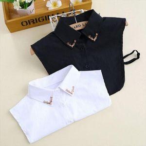 Embroidery Peter Pan Collar Fashion Detachable Women Lapel Shirt Fake Square Collar Choker Necklace Blouse Neck