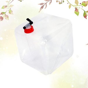 1pc Foldable Water Bag 20L Large Capacity White Collapsible Water Container Bag Bottle Carrier for Hiking