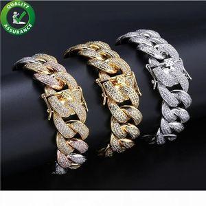 Hip Hop Mens Bracelets Luxury Designer Jewelry Diamond Tennis Bracelet Designer Style Iced Out Gold Cuban Link Chain Love Charm Bangles 18MM