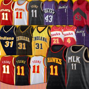 Young Trae 11 Carter Vince 15 Jersey 43 Siakam Reggie 31 Miller Pascal Kyle Tracy Lowry McGrady Torontos Kevin Atlantas Garnett Basketball