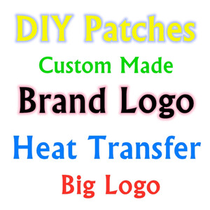 Heiße Verkauf Art und Weise DIY Patches für Kleidung Aufkleber Iron On Heat Transfer-Patch nach Maß Big Logo Brief Applikationen Thermo gestickte chapt