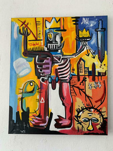 Jean Michel Basquiat painting Home Decor Handcrafts  HD Print Oil Painting On Canvas Wall Art Canvas Pictures 7658