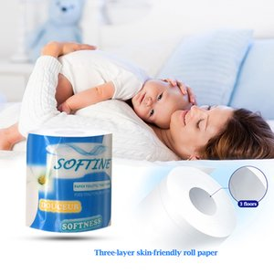 Roll paper towel 3-layer log pulp napkin skin-friendly household roll paper household bathroom toilet paper cleaning supplies
