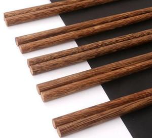 Palillos de madera naturales sin laca. Vajilla de cera chino estilo clásico palillos de madera Sushi cubiertos de vajilla GWC3138