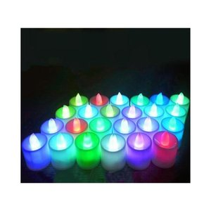 Multicolor Electronic Candle Light Led Simulation Candle Light Birthday Wedding Flameless Flashing Candle P sqcyyI dh_seller2010