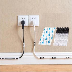 Kabel-Winde-Clip Adhesive Charger Haken Schreibtisch-Draht-Schnur-Kopfhörer-Telefonleitung Tie Fixer Organizer Auto-Wand-Klemmhalter