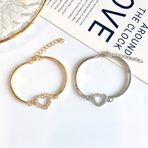 Fashion jewelry wholesale love heart diamond heart bracelet peach heart rhinestone small fragrance lady bracelet