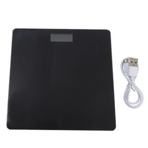 Лучшие напольные весы Body Fat весы стекла Электронные весы Смарт USB зарядка ЖК-дисплей Цифровой ванной Body Weight Scale