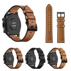 Huawei GT Honor Magic Watch Band 22MM عصابات حزام جلد Huawei الذكية مشاهدة الملحقات استبدال الاسوره