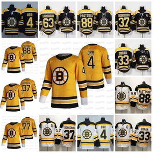 David Pastrnak Boston Bruins 2021 Revenir Retro Bobby Orr Zdeno Chara Patrice Bergeron Ray Bourque Zdeno Chara Marchand Jersey en stock