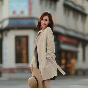 elegant classic khaki custom during the spring and autumn trench coat on sale seconds kill not refund don't change1