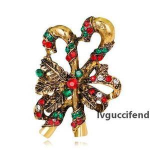 Noel Broş Kadınlar Retro Noel Süsler ve Aksesuarlar Noel Dekorasyon Rhinestone Broş Kadın Bijoux 001 için Hediyeler olarak