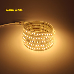 5730 IP67 Waterproof LED Strip Light AC 220V 120 led m with EU Power Cord 4000K 6000K 3000K Warm   Cold White Garden Decorative Lighting