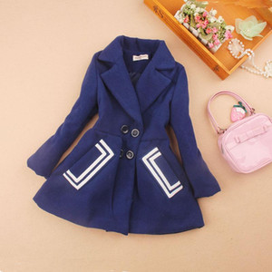 2020 kids clothes girls winter coats children clothing girls wool coat blends cashmere mother daghter clothes age 2-16Y
