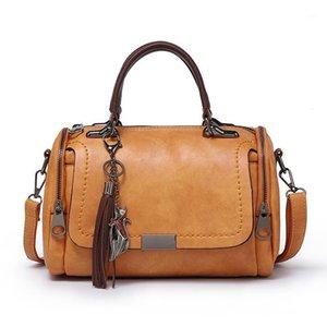 Chongsukei 2020 nova chegada moda mulher saco para senhoras retrô pu bolsa de couro feminino borla zipper crossbody bags1